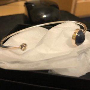Avon Jewelry - Avon Open Cuff Bracelet - blue (silvertone) - new